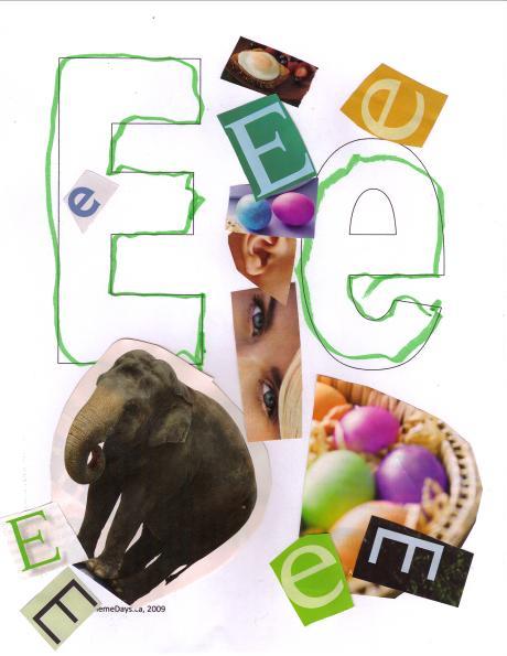 Letter E Theme Day